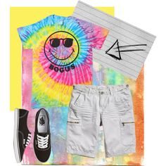 """More colorful"" by kate-dep-dep on Polyvore #tomboy #tomboy_style #vans"