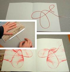 Malen mit Fäden (Diy Painting Techniques)