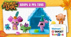 Celebrate the fun of autumn with Animal Jam Adopt A Pet Toys! Can you adopt them all? You can mix & match accessories for a Jam-tastic look!  Each Adopt A Pet pack includes 1 scratch off code that unlocks exclusive content in game. Adopt them all and Play Wild!