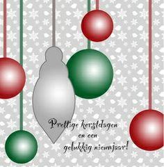 Kerstkaart klassiek: Strakke kerstkaart met kerstballen. Klassieke kerstkaarten online maken en versturen. Kies een mooie klassieke kerstkaart, schrijf de tekst, en met een druk op de knop, worden alle kerstkaarten voor u gedrukt en via PostNL verstuurd! http://www.kerstkaartensturen.nl/kerstkaarten/kerst-klassiek/