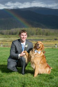 Love this :) (plus a rainbow) | On SMP: http://www.stylemepretty.com/colorado-weddings/tabernash/2013/12/02/devils-thumb-ranch-from-love-this-day-events | Photography: Jamee Photography