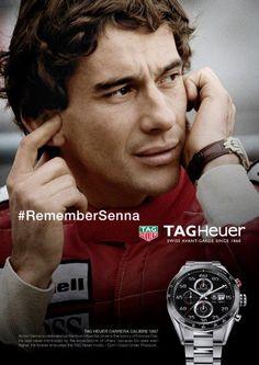 Ayrton Senna ambassadeur TAG Heuer