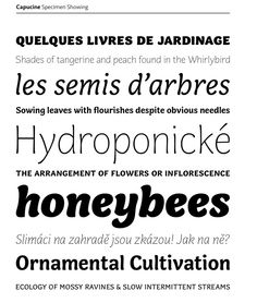 Capucine - This font was designed by Roger Excoffen in the 1950s.