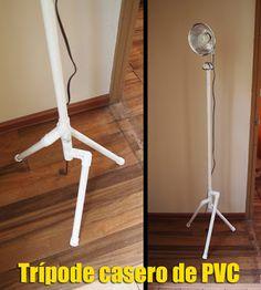 Tripode casero con tubos de PVC | Gustos y Fobias