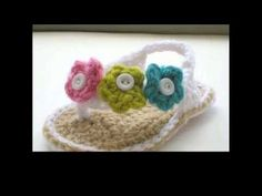 """Crochet """"Trifina"""" Baby Sandals (Part 1) Free Pattern by Maricita Colours in English - YouTube"""