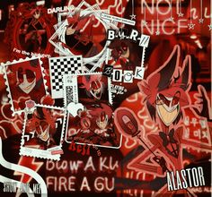 Dark Red Wallpaper, L Wallpaper, Graffiti Wallpaper, Tumblr Wallpaper, Wallpaper Iphone Cute, Plywood Furniture, Alastor Hazbin Hotel, Hotel Trivago, Vivziepop Hazbin Hotel