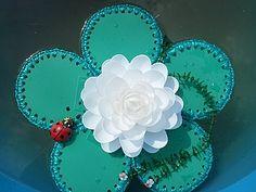 Recycling 2! (Водяная лилия из одноразовой посуды.) | Ярмарка Мастеров - ручная работа, handmade