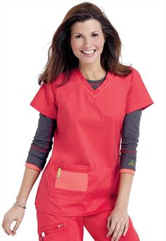 Antidote just in! The new cure for boring scrubs. #A112 Antidote sporty v-neck scrub top | Scrubs and Beyond