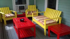 Modern Outdoor Patio Collection. Built from free plans at Ana-White.com