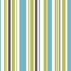 Fine Decor Poppie Stripe Wallpaper Green / Blue