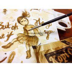 #coffeepainting #coffeeart #illustration #drawing #design #doodles #art #instaart #ink #painting #kopi #aikcheong #malaysiancoffee #igmy #coffeeillustration #coffeedrawing
