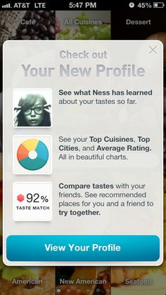 Ness iPhone popovers screenshot