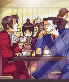 how to have lunch with your rival. 1. bring along a peppy 18 year old- wait shit that didn't help