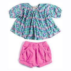 Did you know our cool Spring looks for girls come in sizes for baby, too? This bright & swingy a-line top comes with super cute bloomer shorts. $60. See more looks for stylish babies at appaman.com