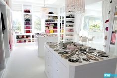 Lisa Vanderpump has no shortage of designer bags and drop-dead fabulous jewelry. Have you ever seen a more beautiful closet? Click through for a full tour of Villa Rosa!