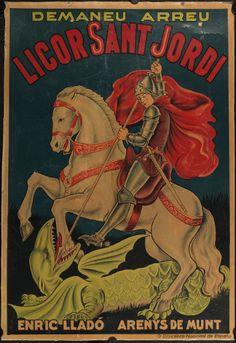 Licor Sant Jordi demaneu arreu Enric Lladó Arenys de Munt (1930?)