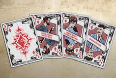 Hipster inspired playing cards- get in to it before they become the next big thing.