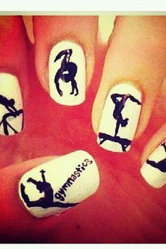 Gymnastics Nail Art