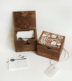 Gorgeous Wooden Heirloom Recipe Boxes by Rifle Handmade