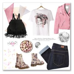 """""""Cute Skull"""" by petiteorange ❤ liked on Polyvore featuring Dr. Martens, Rebecca Taylor, Paige Denim, Alexander McQueen, H&M and Bling Jewelry"""