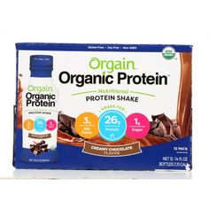 protein shake to gain muscle Orgain Organic Protein Nutritional Grass Fed Protein Shake, Creamy Chocolate, Protein, 14 Fl Oz, 12 Ct Organic Protein, Protein Blend, Milk Protein, Healthy Protein, Protein Foods, Natural Protein Shakes, Best Protein Shakes, Chocolate Protein Shakes, Chocolate Chocolate