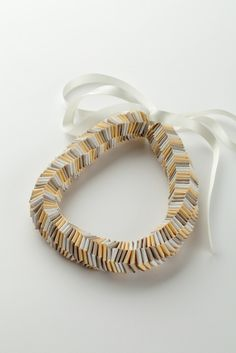 Honeycomb necklace, €96 by LAF Lesley Frew