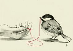 An invisible red thread connects those who are destined to meet,  regardless of time, place, or circumstance. The thread may stretch  or tangle, but it will never break. ~ An Ancient Chinese Belief