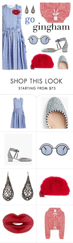 """""""Go gingham"""" by pensivepeacock ❤ liked on Polyvore featuring MSGM, J.Crew, Chanel, Alexis Bittar, Loeffler Randall, Solange Azagury-Partridge, Rosie Assoulin and gingham"""