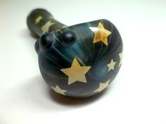 Glass Pipe Sandblasted Full Color Beautiful Pipe by LoudActions, $36.00