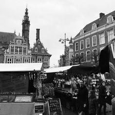 Grote Markt #haarlem #blackandwhite