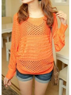 Cutout Knit Long Sleeved Sweater