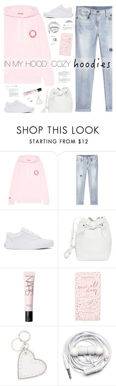 """Cozy Hoodies"" by mylkbar ❤ liked on Polyvore featuring R13, Vans, Mansur Gavriel, NARS Cosmetics, Burberry, Urbanears, Forever 21 and Hoodies"