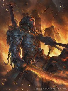 Guerreiro Armadurado do Exercito Demoníaco.