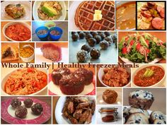 Healthy Freezer Meals, lots and in categories