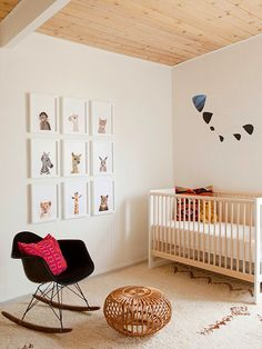 This neutral nursery feels light, airy, and bright. Replicate this wall color with Lullaby Paints in Snowy Fleece - non-toxic, no-VOC, baby-safe paint!
