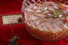 Rudolph's Brunch Punch:  pineapple juice, orange juice, cranberry juice, lime juice, powdered sugar, citrus slices