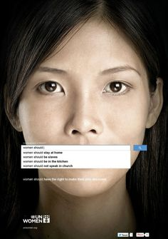 The United Nations have released a powerful series of advertisements advocating for women's rights around the world.