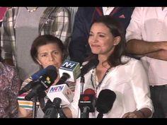 María Corina Machado después de la audiencia en la Fiscalía