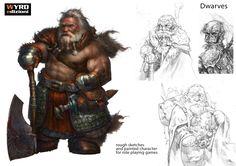 ArtStation - Dwarves, Stefano Moroni