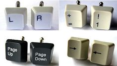 Recycled Keyboard Keys / These wonderful functional cufflinks from recycled e-waste. / Made by  Acorn Studios