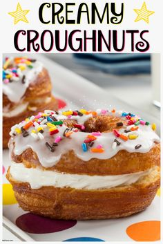 Doughnut + Croissant = AMAZING Creamy Croughnuts! And it's just 5 ingredients!