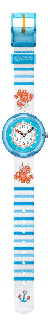 35 € - Ces homards orange se sont-ils trop amusés au soleil ? Bien sûr que non, ils sont juste passionnés de mode, de couleurs et de ponctualité même quand ils surfent sur les vagues bleu et blanc. Flik et Flak sont également toujours à leurs côtés pour veiller à ce que la précision suisse règne sur tous les chronos.