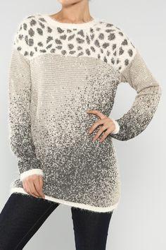 Metallic Animal Sweater #wholesale #prints #pants #fashion #clothing #ootd #wiwt #shopitrightnow #graphics #patterns #moto #jacket #pleather #veganleather #Metal #metallic