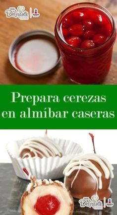 Las cerezas en almíbar son una delicia, y las preparadas en casa saben mil veces mejor. Food And Drink, Pudding, Snacks, Vegetables, Breakfast, Desserts, Recipes, Chocolates, Fondant