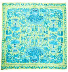 Mascada Marakame verde/azul