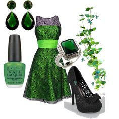 Green Envy, created by ginniemontoya on Polyvore