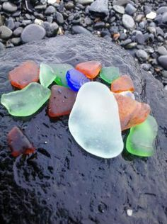Homer Spit Beach - Sea Glass 2:  ~ beach report submitted by Sherry from Homer, Alaska, USA Name of Beach:  Homer Spit Beach  Nearest Town:      Homer, Alaska   Describe
