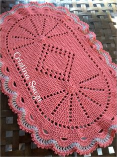 The Snow is Dancing pattern by Darma Bregoli Crochet Mat, Crochet Table Runner, Lace Table Runners, Crochet Squares, Crochet Home, Crochet Doilies, Crochet Stitches, Thread Crochet, Irish Crochet