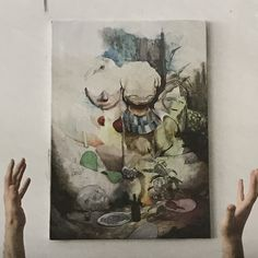 Dave de Leeuw (° 1981) is een kunstenaar uit Nederland, zijn oeuvre omvat schilderijen, tekeningen, sculpturen, muurschilderingen, video's en installaties. Contemporary Artists, Painting, Painting Art, Paintings, Painted Canvas, Drawings