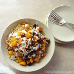 cranberry pumpkin quinoa bowl
